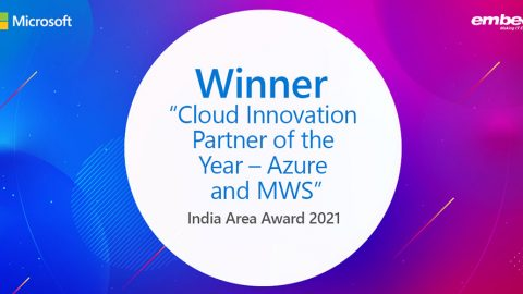 Embee Software Wins Microsoft India Area Award 2021 – Cloud Innovation Partner of the Year – Azure and MWS
