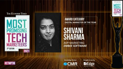 Shivani Sharma, AVP Marketing at Embee Software, Wins the 'Digital Marketer of the Year' Award at The Economic Times Most Promising Tech Marketeers 2021
